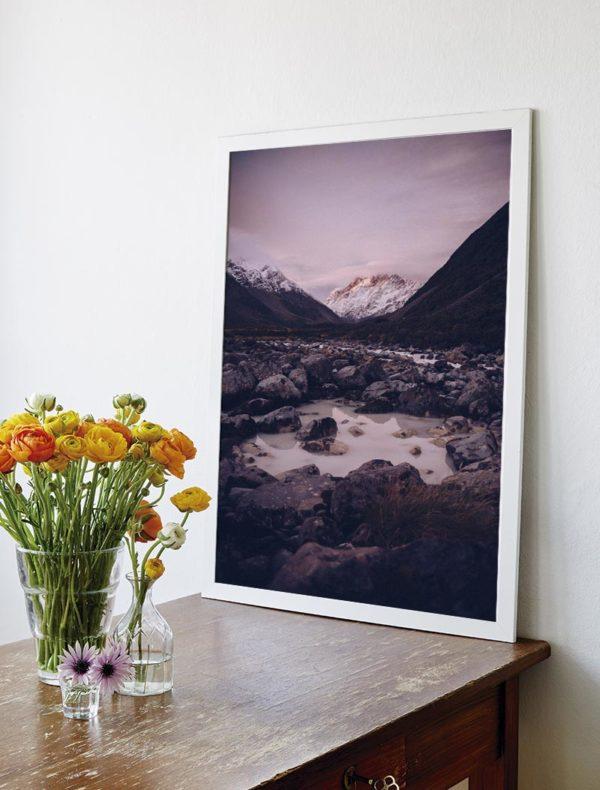 Conjunto lámina montañas