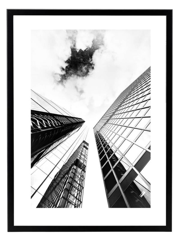 Lamina Edificio Abstracto Marco-Negro