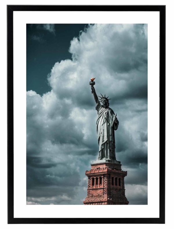 Lámina Estatua de la Libertad Marco Negro
