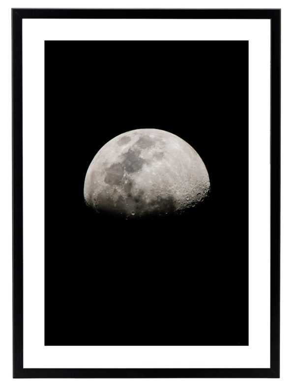 Lámina Luna Marco Negro