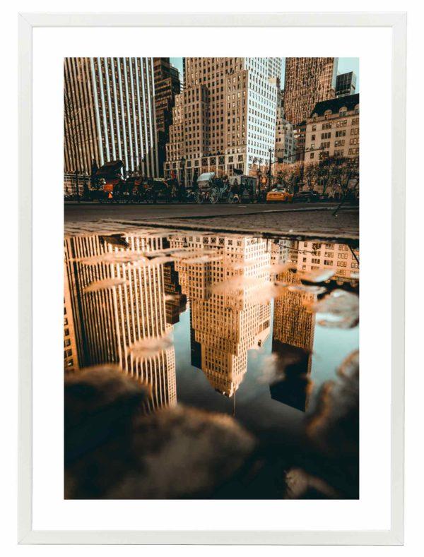 Lámina Nueva York Marco Blanco