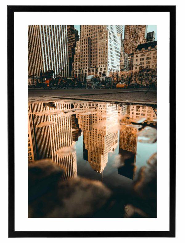 Lámina Nueva York Marco Negro