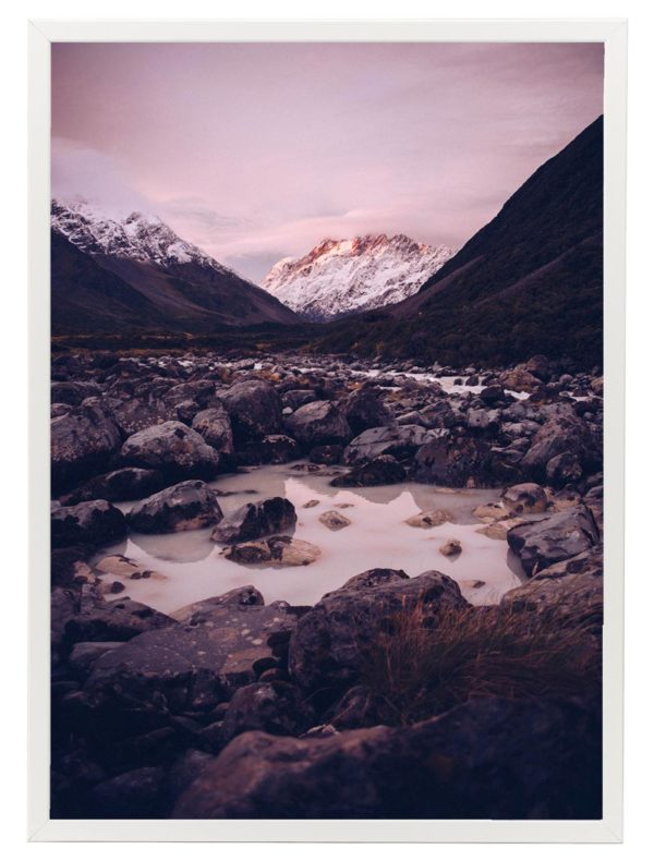Lámina Montañas Marco Blanco