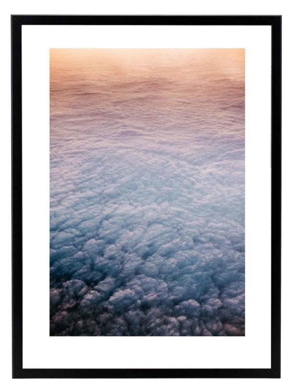 Lámina nubes Marco Negro
