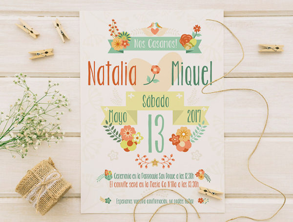 invitacion-boda-orange-floral