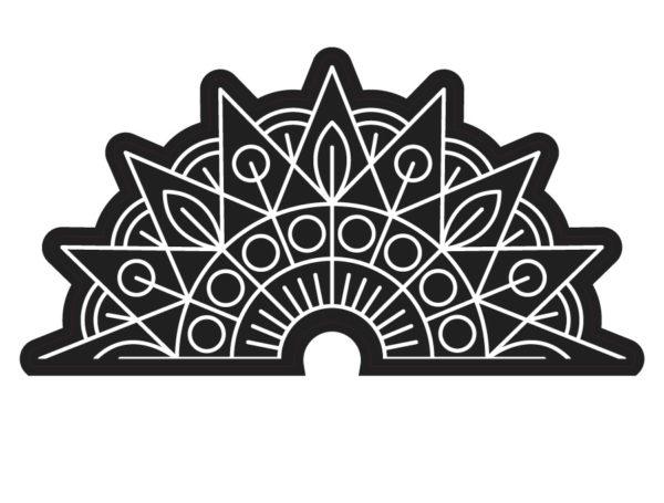 Vinilo mandala para pared wasabi project for Vinilos pared mandalas