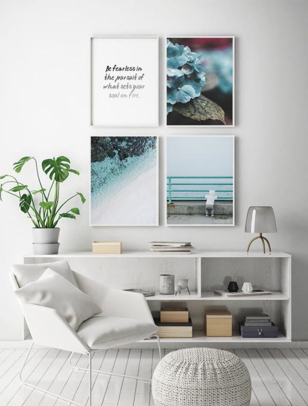 Ambiente láminas turquesa