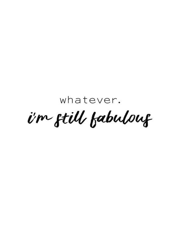 Lámina Frase Fabulous