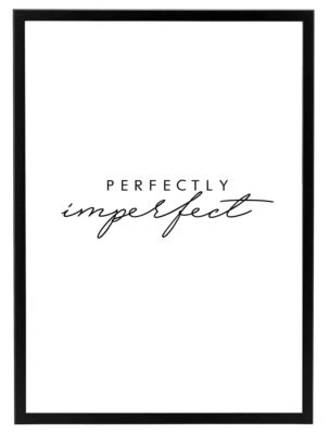 Lámina Frase Perfectly Imperfect Marco Negro