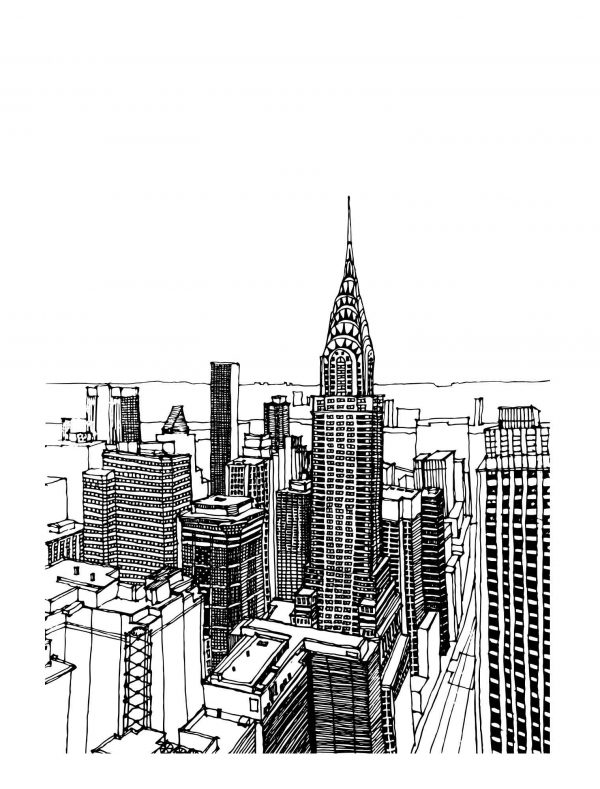Lámina Dibujo Nueva York