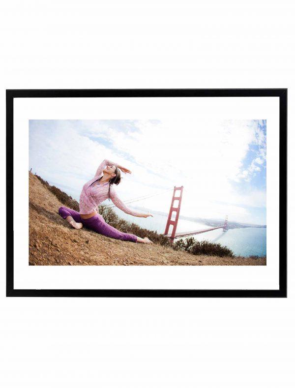 Lámina Yoga San Francisco Marco Negro