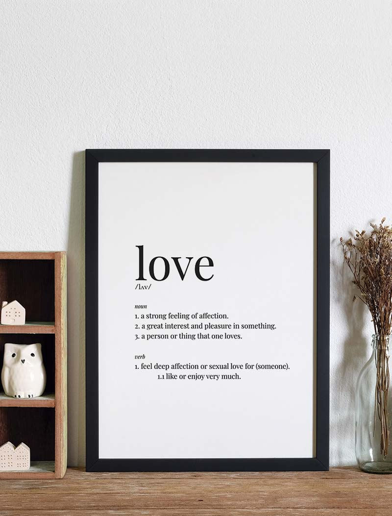Ambiente Lámina Love