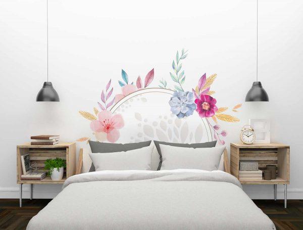 Cabecero Floral Multicolor