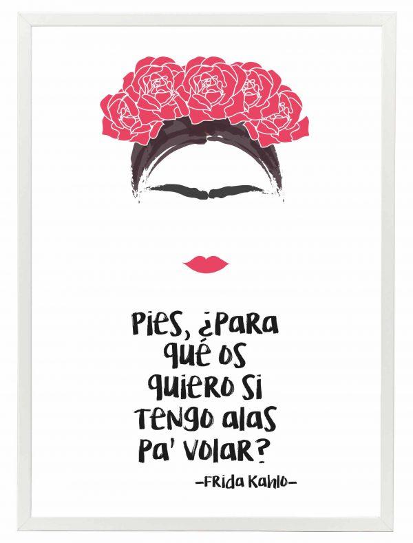 Lamina Frida Kahlo Marco Blanco