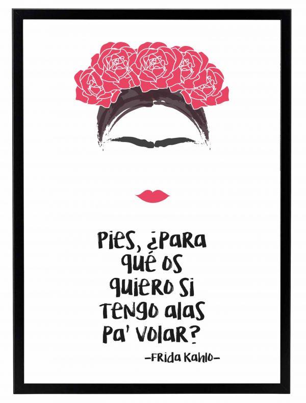Lamina Frida Kahlo Marco Negro