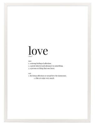 Lámina Love Marco Blanco