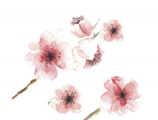Cabecero Flores Acuarela Diseño