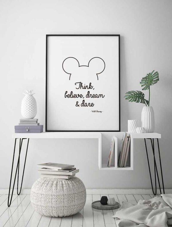 Lámina-Mickey-Inglés-Ambiente