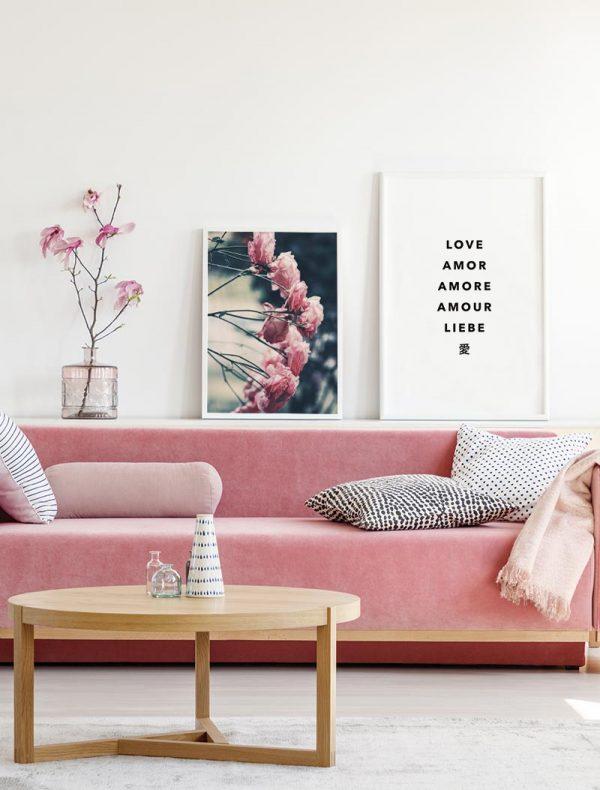Composición-Láminas-Flores-Amor