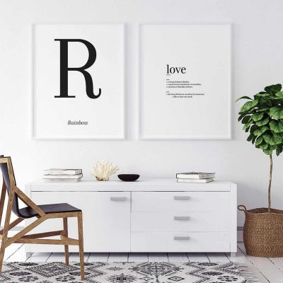 Decorar-paredes-blancas-laminas
