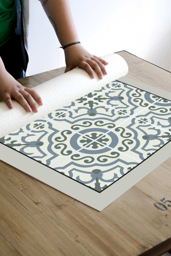 alfombra_enrollada_green_pattern
