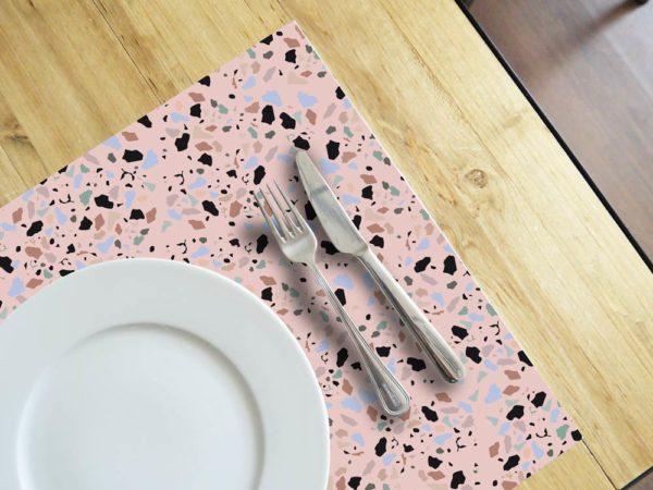 Ambiente-Detalle-individuales-Terrazo-Pink