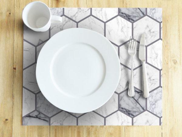 Ambiente-Mesa-Individuales-Hexagono-Marmol