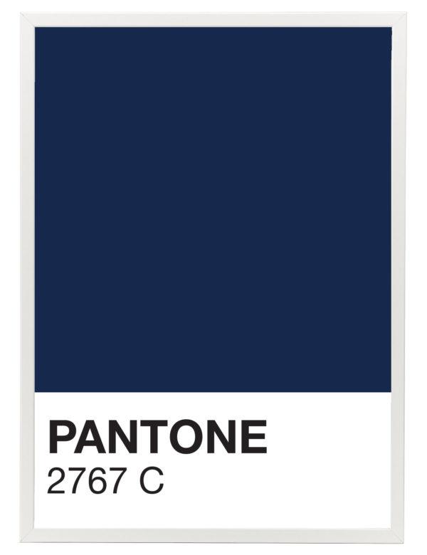 Lámina decorativa Color 2767C con marco blanco