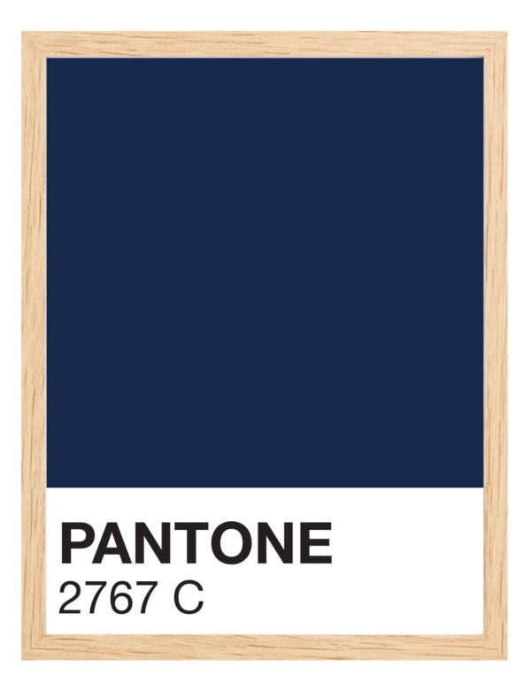 Lámina decorativa Color 2767C con marco madera