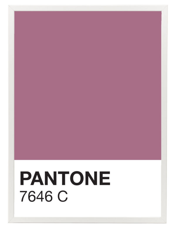 Lámina decorativa Color 7646C con marco blanco