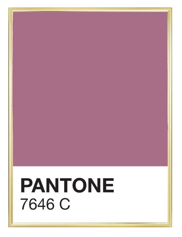 Lámina decorativa Color 7646C con marco dorado