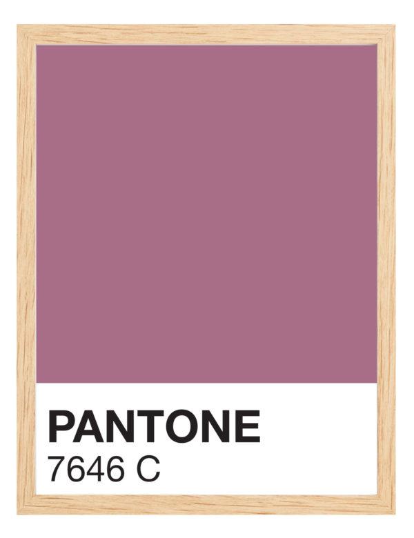 Lámina decorativa Color 7646C con marco madera