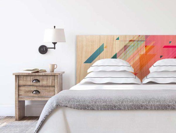 Cabecero de madera Colores abstractos