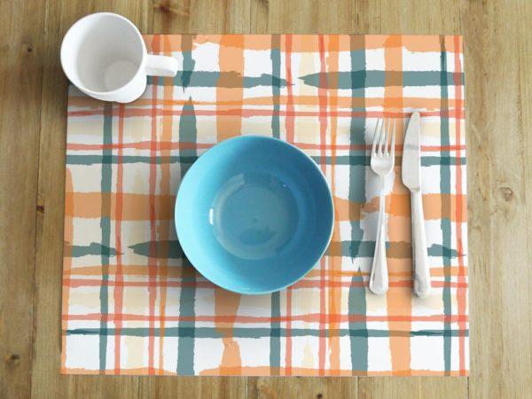 mantel individual cuadrados mesa