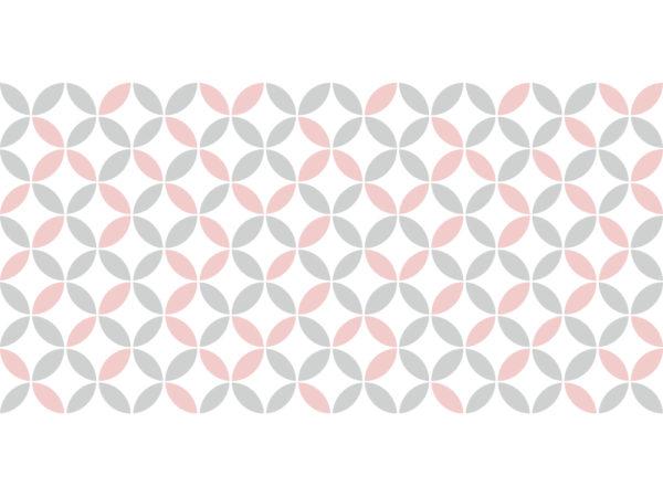 Suelo vinílico Pattern Vintage Rosa Pastel - L