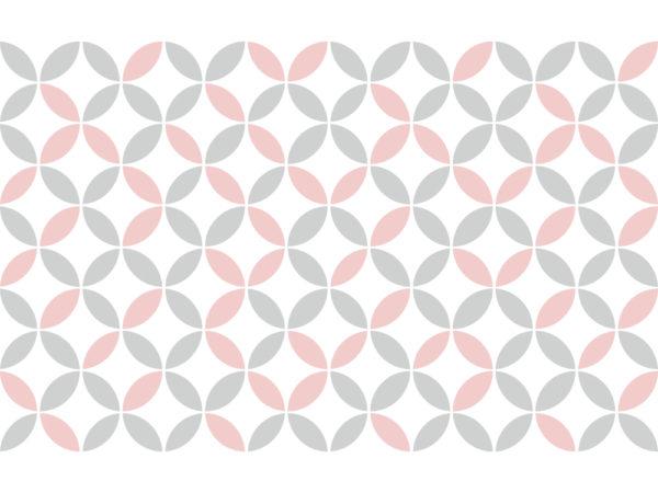Suelo vinílico Pattern Vintage Rosa Pastel - M