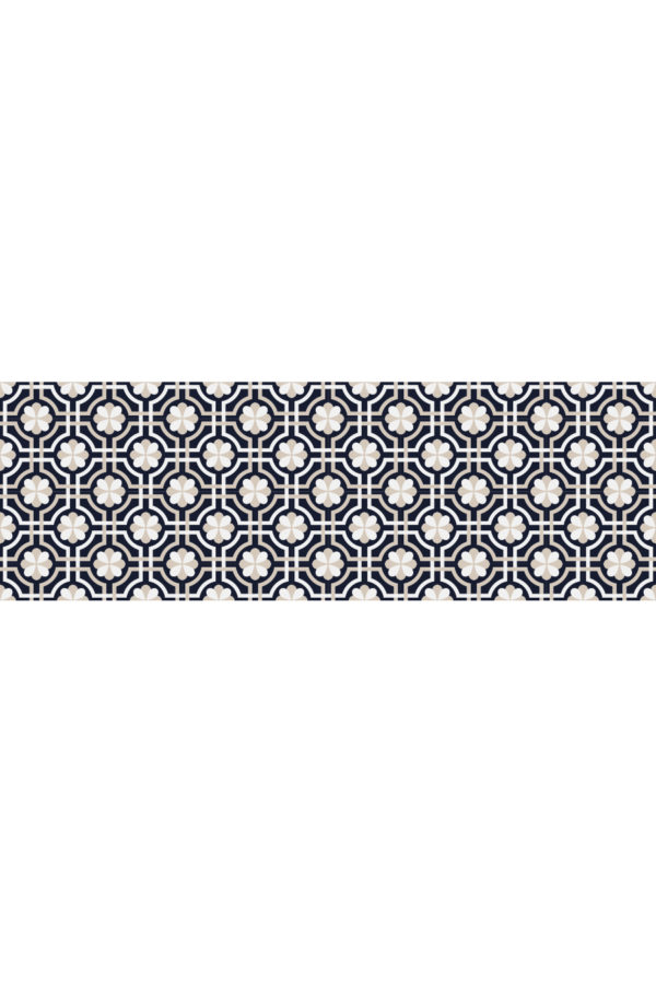Alfombra vinílica baldosas classy azul marino talla M 180x60 cm