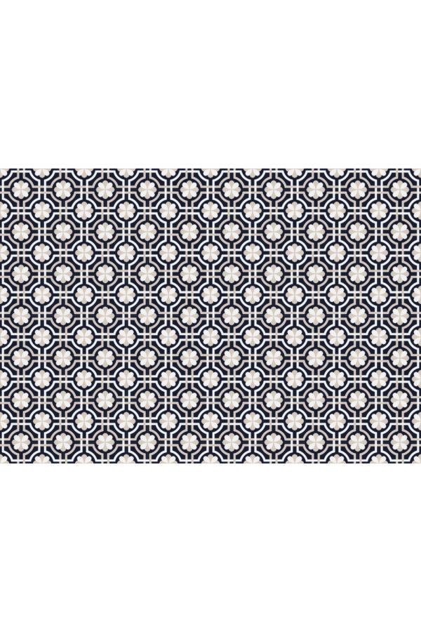 Alfombra vinílica baldosas classy azul marino talla XL 200x140 cm