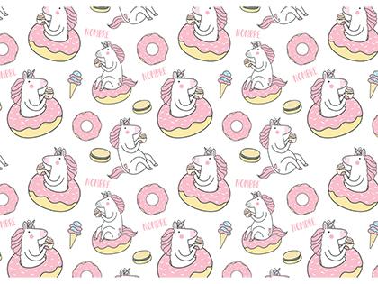 Alfombra vinílica para mascotas modelo Unicornio en color rosa talla M 70x50 cm