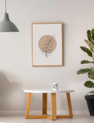 Lámina decorativa Planta Minimalista 2