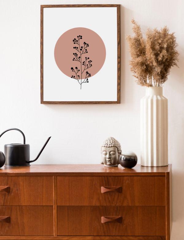 Lámina decorativa Planta Minimalista 3