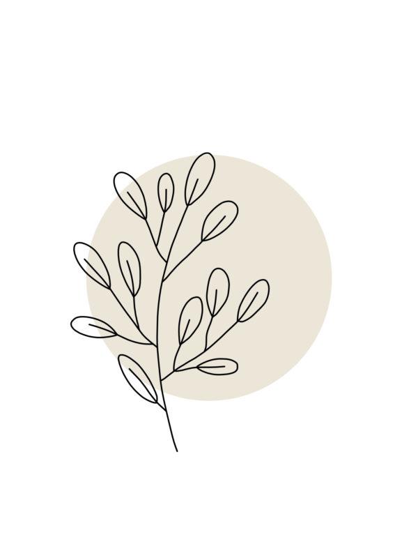 Lámina decorativa Planta Minimalista 1 sin marco