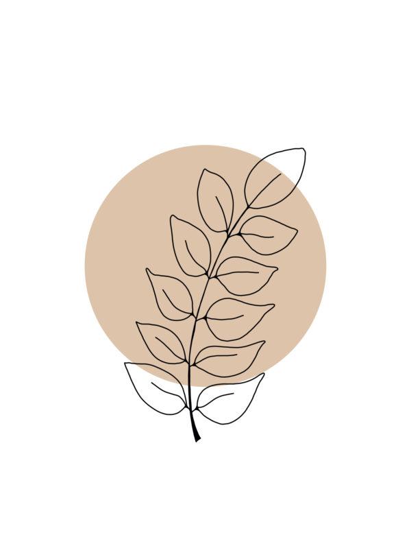 Lámina decorativa Planta Minimalista 2 sin marco