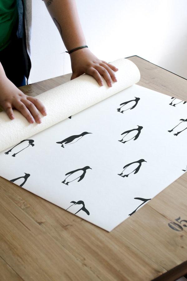 Alfombra vinílica Penguins