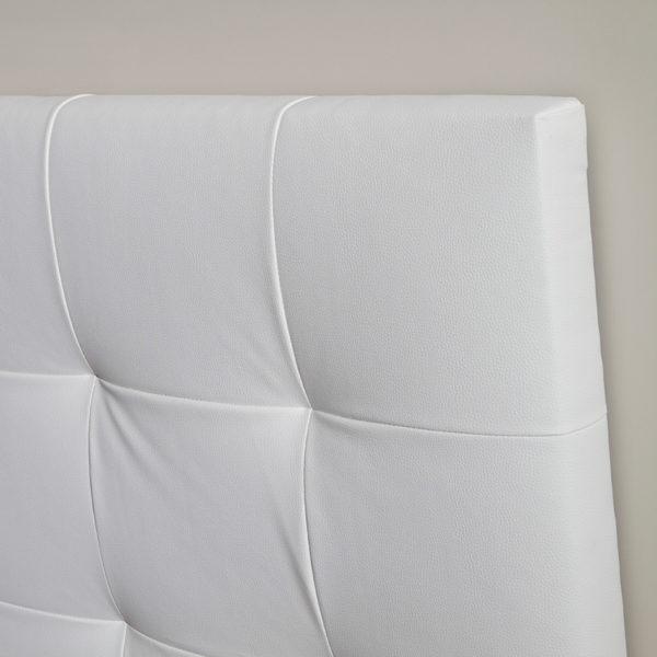 Cabecero tapizado de polipiel Capitoné