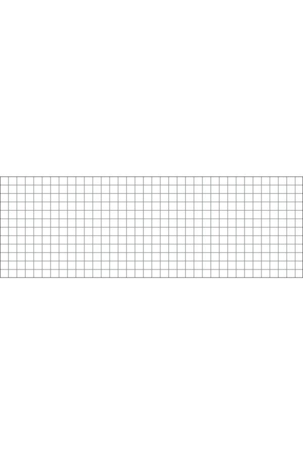 Alfombra vinílica Cuadrícula Gris talla M 180x60 cm