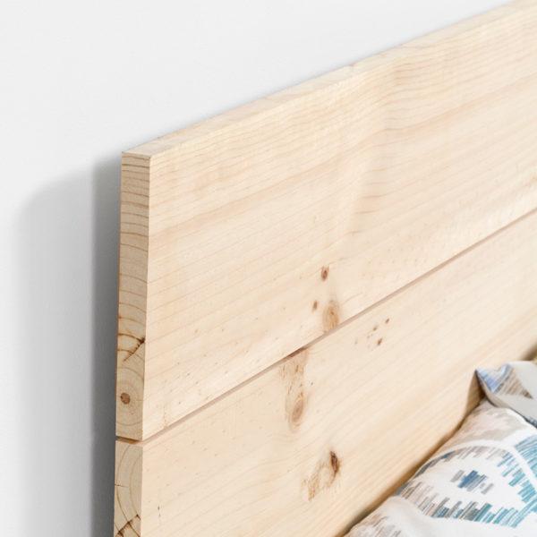 Cabecero de madera de pino Nature