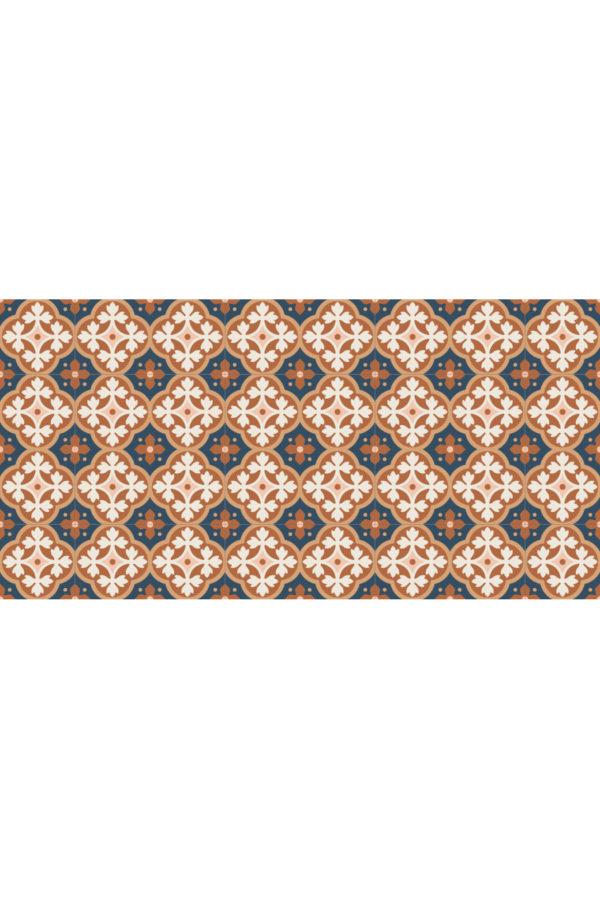 Alfombra vinílica Baldosas Hidráulicas Bronce talla L 160x80 cm