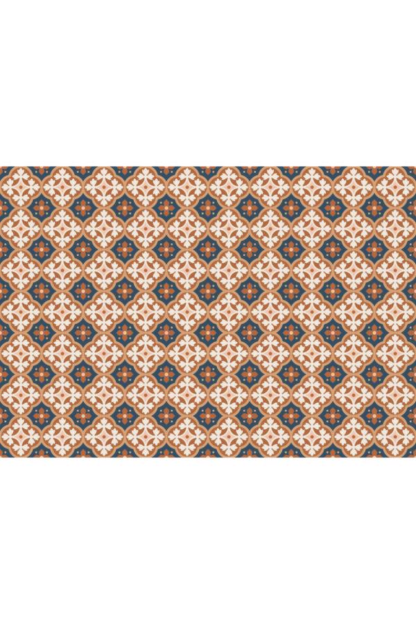Alfombra vinílica Baldosas Hidráulicas Bronce talla XL 200x140 cm