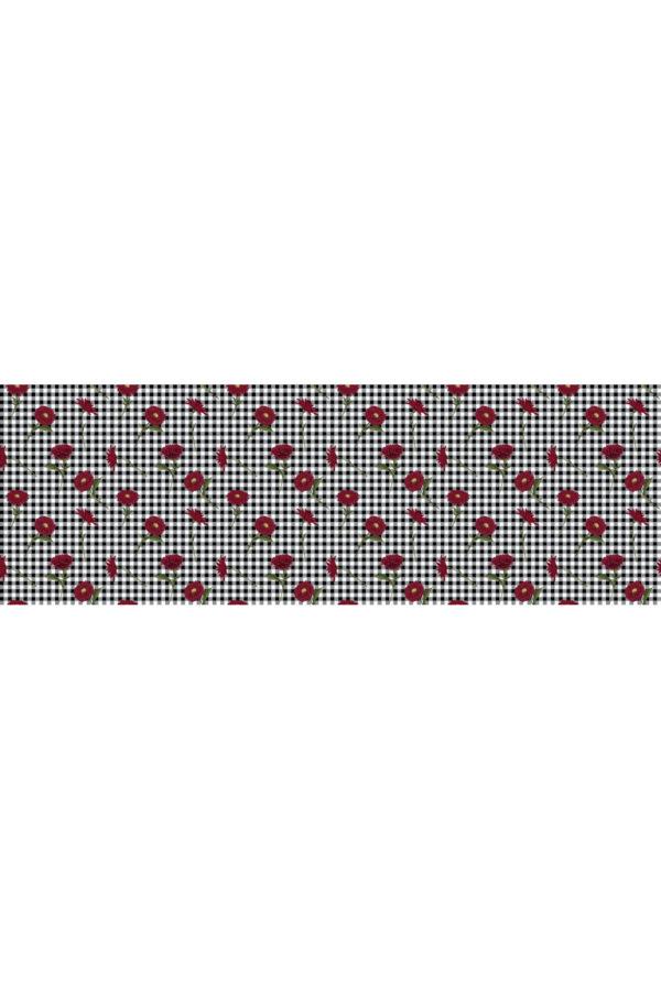 Alfombra vinílica Flores Vichy talla M 180x60 cm
